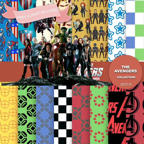 Avengers Digital Paper DP2719 - Digital Paper Shop - 1