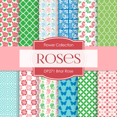 Briar Rose Digital Paper DP271 - Digital Paper Shop - 1