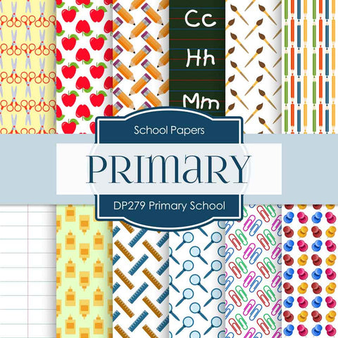 Primary School Digital Paper DP279 - Digital Paper Shop - 1