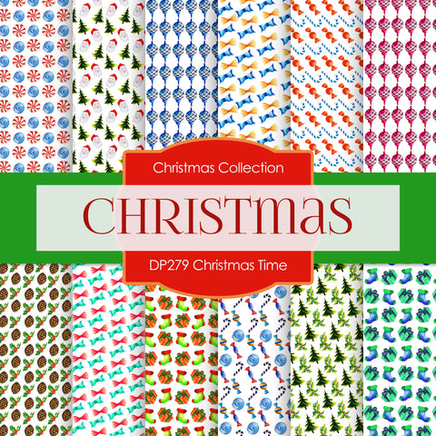 Christmas Time Digital Paper DP279A