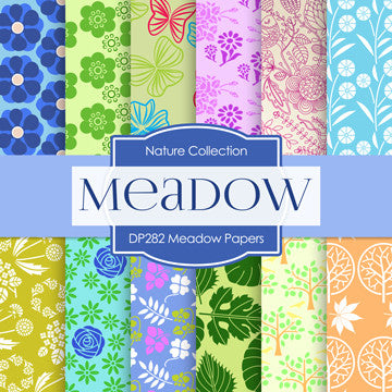 Meadow Papers Digital Paper DP282 - Digital Paper Shop - 1
