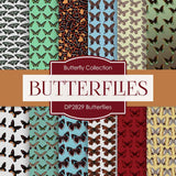 Butterflies Digital Paper DP2829A - Digital Paper Shop - 1