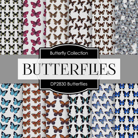 Butterflies Digital Paper DP2830A - Digital Paper Shop - 1
