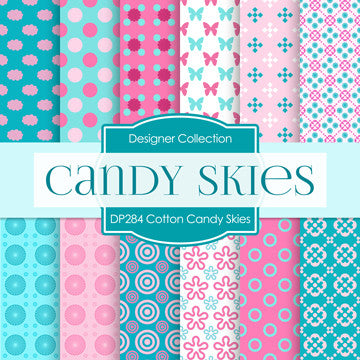 Cotton Candy Digital Paper DP284 - Digital Paper Shop - 1