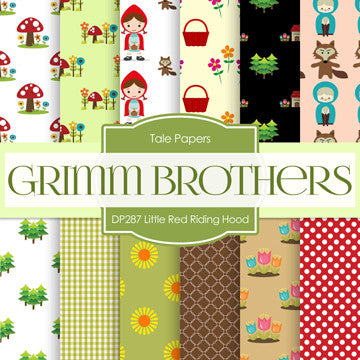 Little Red Riding Hood Digital Paper DP287 - Digital Paper Shop - 1