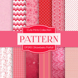 Strawberry Parfait Digital Paper DP2901 - Digital Paper Shop - 1