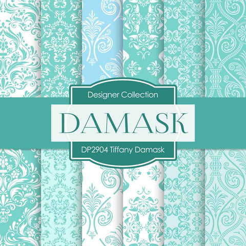 Tiffany Damask Paper DP2904 - Digital Paper Shop - 1