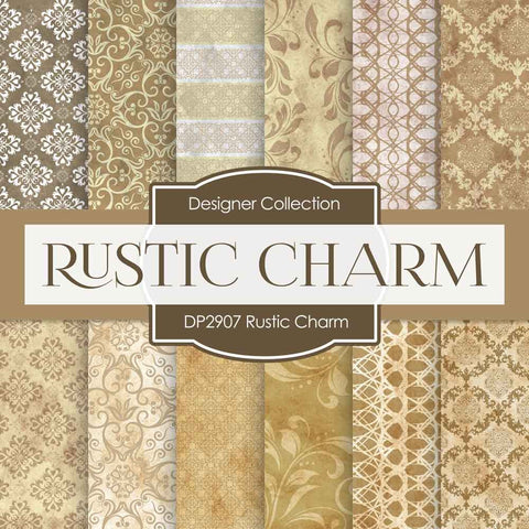 Rustic Charm Digital Paper DP2907 - Digital Paper Shop - 1