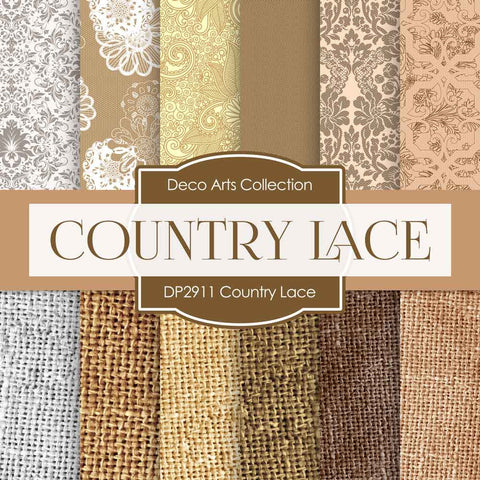 Country Lace Digital Paper DP2911 - Digital Paper Shop - 1