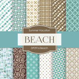 Beach Digital Paper DP2916 - Digital Paper Shop - 1