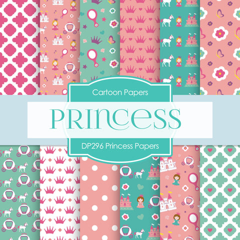 Princess Papers Digital Paper DP296 - Digital Paper Shop - 1