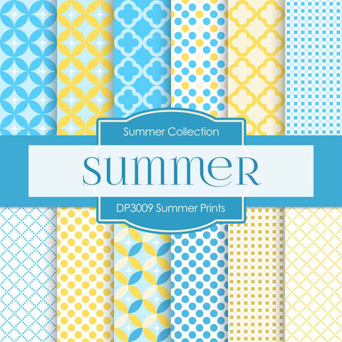 Summer Prints Digital Paper DP3009 - Digital Paper Shop - 1