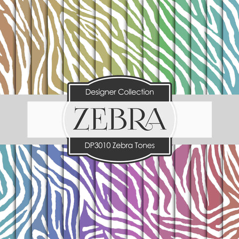 Zebra Tones Digital Paper DP3010 - Digital Paper Shop - 1