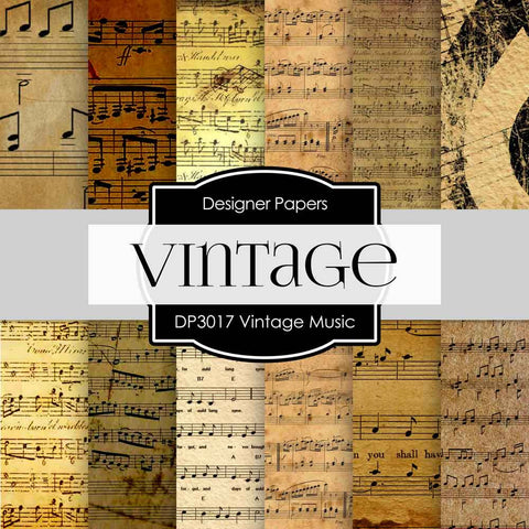 Vintage Music Digital Paper DP3017 - Digital Paper Shop - 1