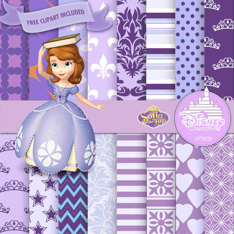 Sofia The First Digital Paper DP3038A - Digital Paper Shop - 1