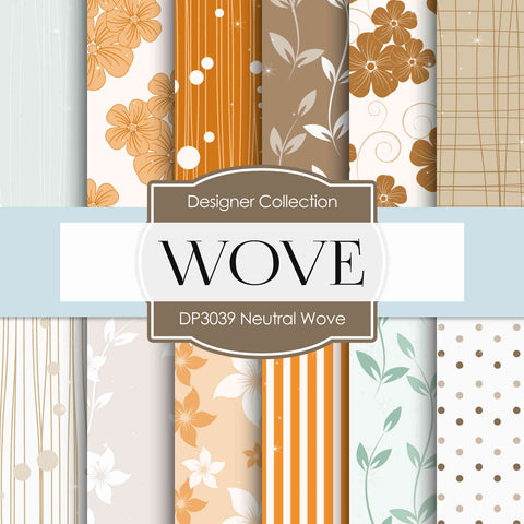 Neutral Wove Digital Paper DP3039 - Digital Paper Shop - 1
