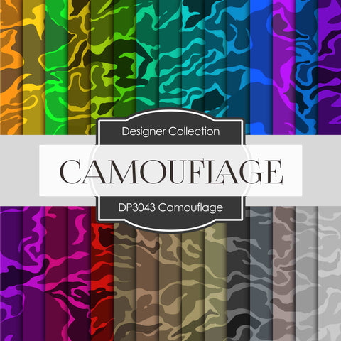 Camouflage Digital Paper DP3043 - Digital Paper Shop - 1