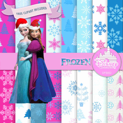 Frozen Digital Paper DP3052 - Digital Paper Shop - 1