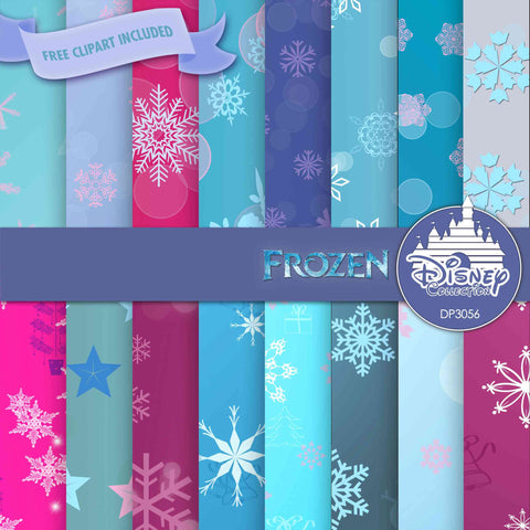 Frozen Digital Paper DP3056 - Digital Paper Shop - 1