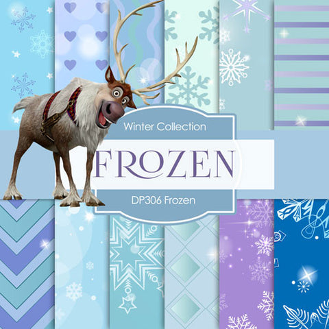Frozen Digital Paper DP306 - Digital Paper Shop - 1