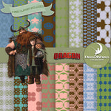 How To Train Your Dragon Digital Paper DP3069 - Digital Paper Shop - 1