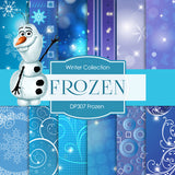 Frozen Digital Paper DP307 - Digital Paper Shop - 1