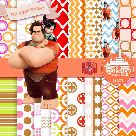 Wreck It Ralph Digital Paper DP3076 - Digital Paper Shop - 1