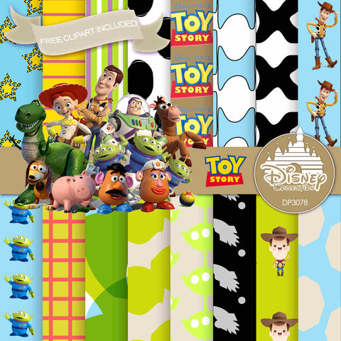 Toy Story Digital Paper DP3078 - Digital Paper Shop - 1