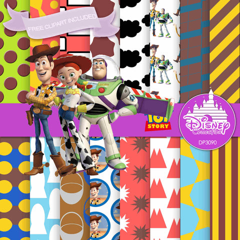 Toy Story Digital Paper DP3090 - Digital Paper Shop - 1