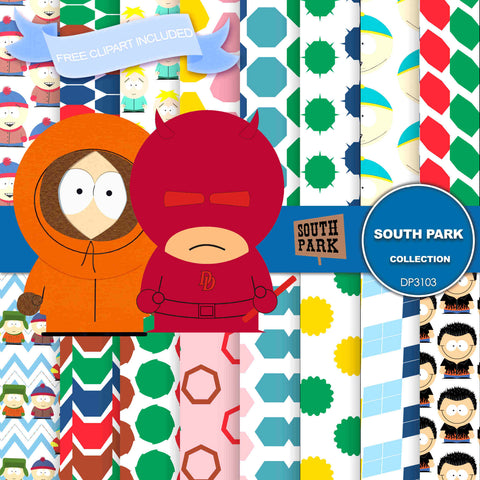South Park Digital Paper DP3103 - Digital Paper Shop - 1