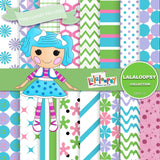 Lalaloopsy Digital Paper DP3117 - Digital Paper Shop - 1