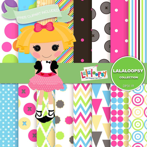 Lalaloopsy Digital Paper DP3119 - Digital Paper Shop - 1