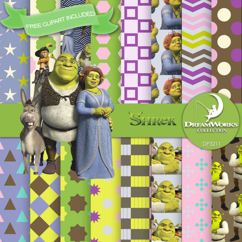 Shrek Digital Paper DP3211 - Digital Paper Shop - 1