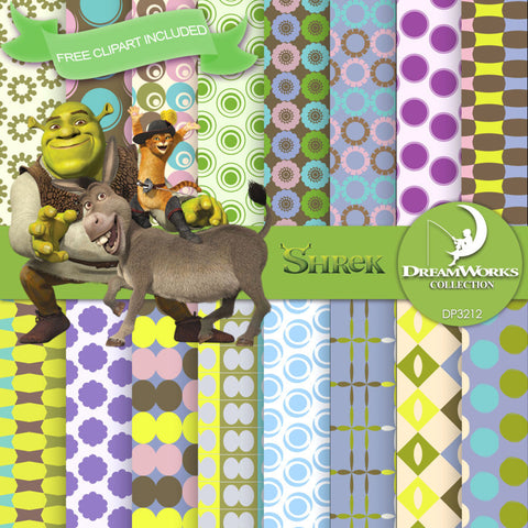 Shrek Digital Paper DP3212 - Digital Paper Shop - 1
