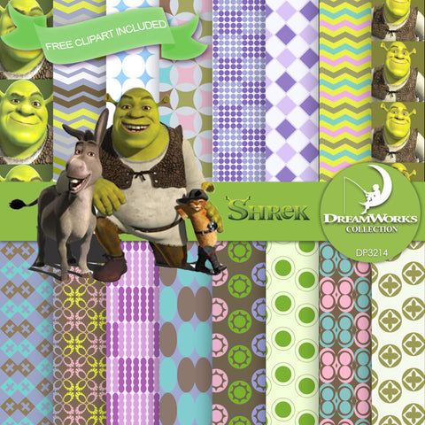 Shrek Digital Paper DP3214 - Digital Paper Shop - 1