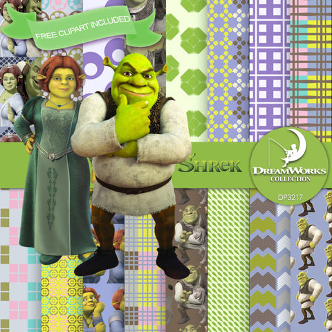 Shrek Digital Paper DP3217 - Digital Paper Shop - 1
