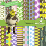 Shrek Digital Paper DP3218 - Digital Paper Shop - 1