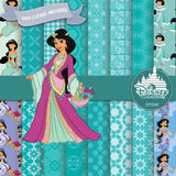 Princess Jasmine Digital Paper DP3240 - Digital Paper Shop - 1