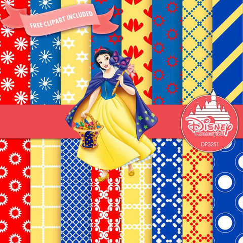 Snow White Digital Paper DP3251 - Digital Paper Shop - 1