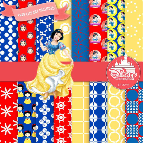Snow White Digital Paper DP3252 - Digital Paper Shop - 1