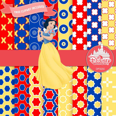 Snow White Digital Paper DP3255 - Digital Paper Shop - 1