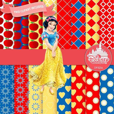 Snow White Digital Paper DP3256 - Digital Paper Shop - 1