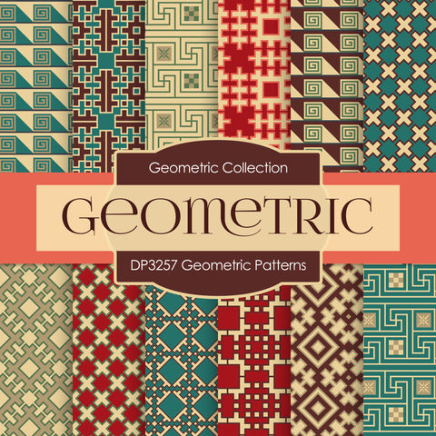 Geometric Patterns Digital Paper DP3257A