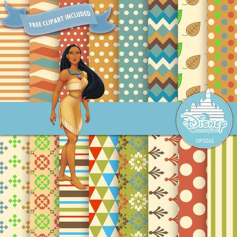Pocahontas Digital Paper DP3262 - Digital Paper Shop - 1