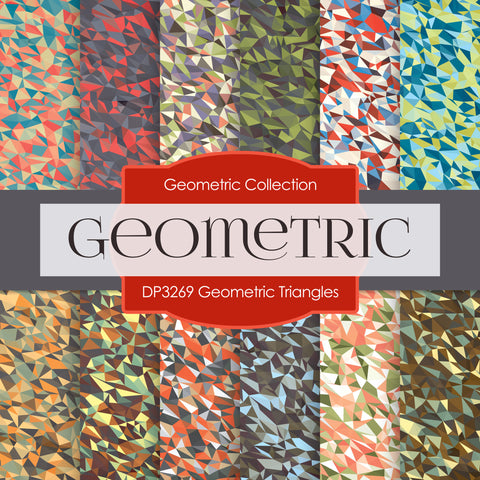 Geometric Triangles Digital Paper DP3269A