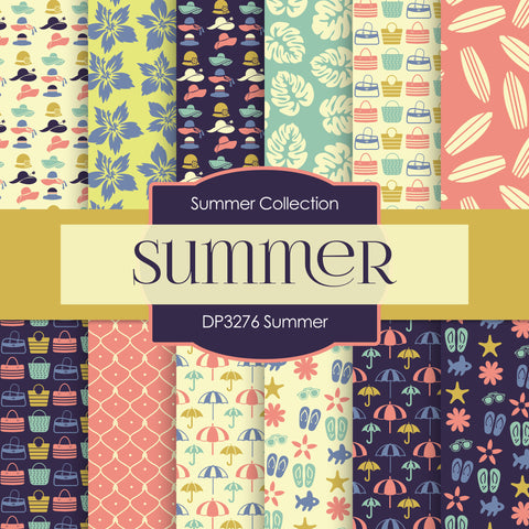 Summer Girls Digital Paper DP3276A