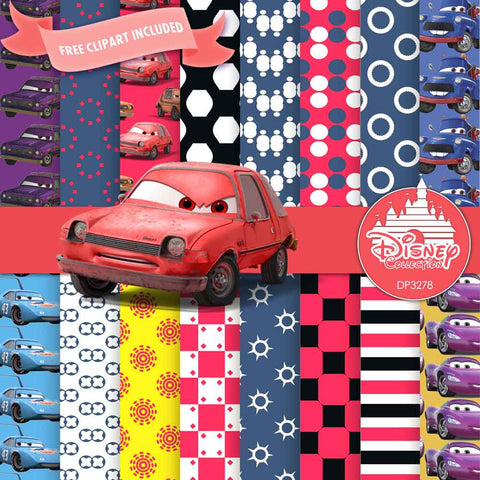 Cars Digital Paper DP3278 - Digital Paper Shop - 1