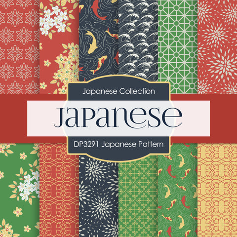 Japanese Pattern Digital Paper DP3291