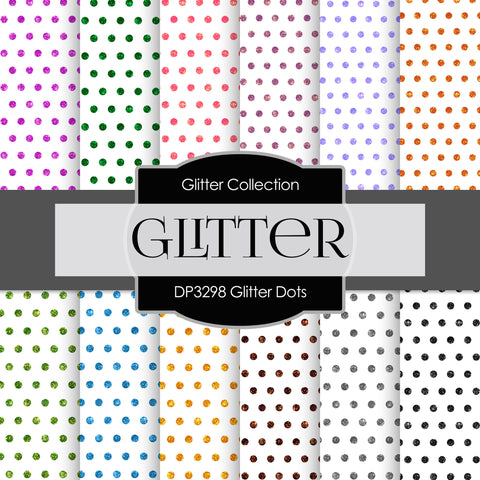 Glitter Dots Digital Paper DP3298
