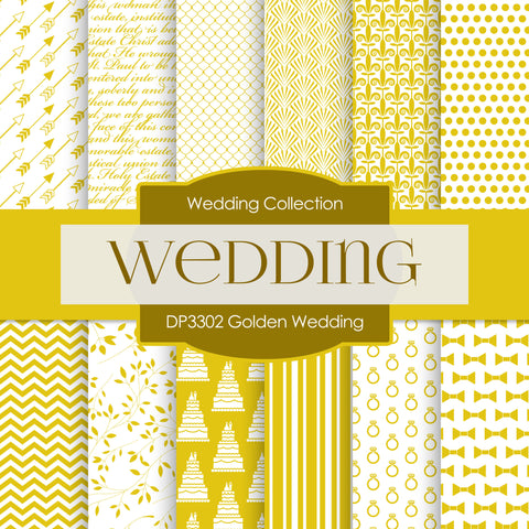 Golden Wedding Digital Paper DP3302